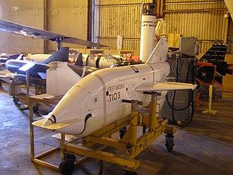 Ikara (missile) - Test missile on display at Bristol Aero Collection, Kemble, England.