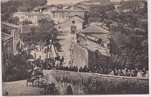 Il Borgo di Celleno fotografato dal Castello degli Orsini in una foto del 1930