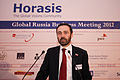 Ilya Ponomarev, Chairman, Hi-Tech Development Subcommittee of the Russian Duma, Russia, 2012 Horasis Global Russia Business Meeting (6970270762).jpg