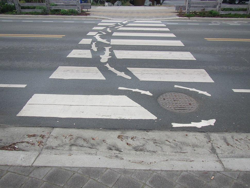 Image of a unique crosswalk design, August 2016