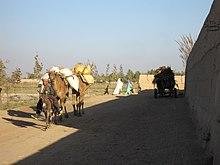 Una strada di Imam Sahib