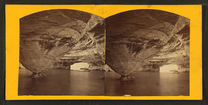File:Immortal Volcano, Grand Portal, Pictured Rocks, from Robert N. Dennis collection of stereoscopic views.jpg