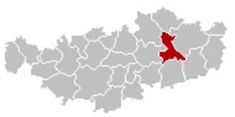 Incourt, Belgium - Image: Incourt Brabant Wallon Belgium Map