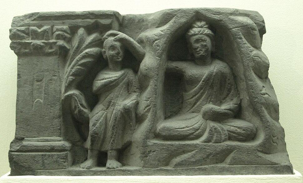 Indian Museum Sculpture - Consolation of Ananda at Gijjhakuta, Jamalgarhi (9220852218)