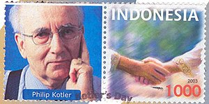 Philip Kotler - Prof. Kotler Stamp issued by Indonesia.
