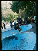 Indy grab at Millennium Skate Park during NYC Skate Coalition's Pool Series event - October 2019.jpg