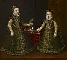 Infante Isabella Clara Eugenia e Caterina Michela, 1570
