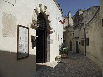 Museo-laboratorio della Civiltà Contadina (Museum-workshop of the Peasant Culture) - Entry of palazzo Barberis, house of the museum