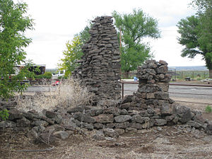 National Register of Historic Places listings in Malheur County, Oregon - Image: Inskip Ruins 2009