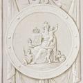 Interiör, detalj. Minnesrundeln. Grissaillemåleri. Karl XIV Joahns kröning - Skoklosters slott - 85963.tif