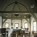 Interieur, overzicht van het interieur van het koor op de eerste verdieping, de trouwzaal, met beschilderd tongewelf - Beets - 20388551 - RCE.jpg