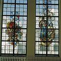 Interieur, trappenhuis, glas in loodraam - Egmond aan Zee - 20361292 - RCE.jpg