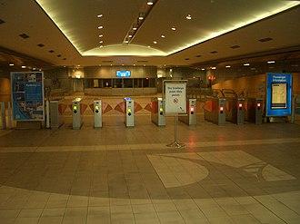 International Airport railway station, Sydney - Image: International Terminal Rail 2