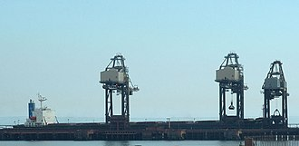 Port of Port Talbot - The iron ore jetty of the Port Talbot Tidal Harbour