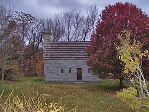 Johnston, Rhode Island - Clemence Irons House, a rare stone-ender, built in 1691 in Johnston, Rhode Island