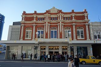 Implosion of Radio Network House - Proceeds from the auction have gone to the restoration of the Isaac Theatre Royal in Christchurch, which reopened in 2014