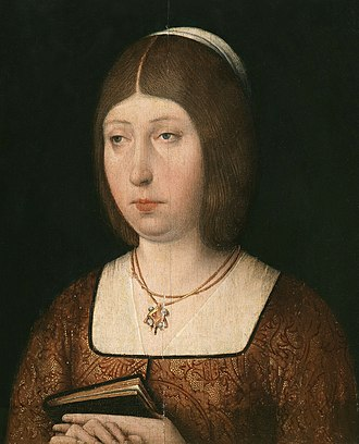 Isabella I of Castile - Anonymous portrait of Queen Isabella, 1490 (Church of Saint Mary the Great)