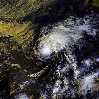1986 Pacific hurricane season - Image: Isis 21 aug 1986 2255Z