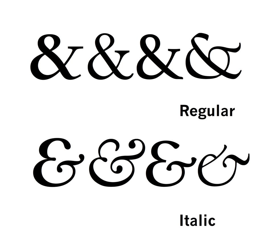 Italic ampersands
