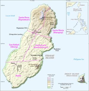 Karte von Itbayat (mit Diogo)