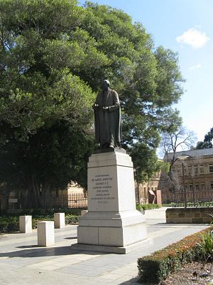 Samuel Way - Statue of Sir Samuel Way on North Terrace, Adelaide in front of the University of Adelaide.