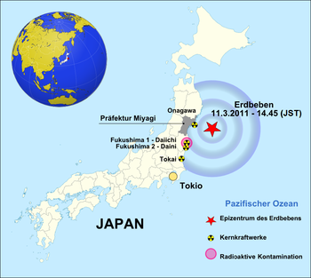 After the Tōhoku earthquake on March 11th, a series of serious accidents occurred in several reactor blocks at the Japanese nuclear power plant Fukushima I.