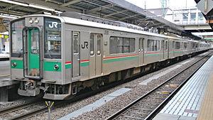 701 series - Sendai-based 701-1000 series set in May 2010