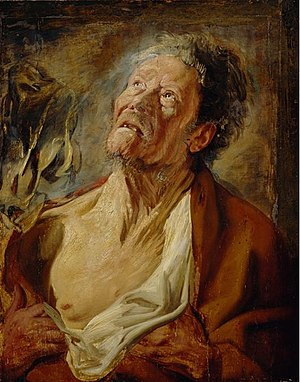 Testament of Job - Jacob Jordaens - Abraham Grapheus as Job