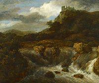 Jacob van Ruisdael - Gemaelde Wasserfall mit Burg Bentheim.jpg