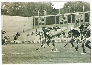 Sport in Delhi - Jagbir Singh in action at the Shivaji Stadium, New Delhi.