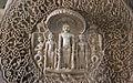 Jain temple at Ranakpur in Aravalli range near Udaipur Rajasthan India karma chains carved out of marble.jpg