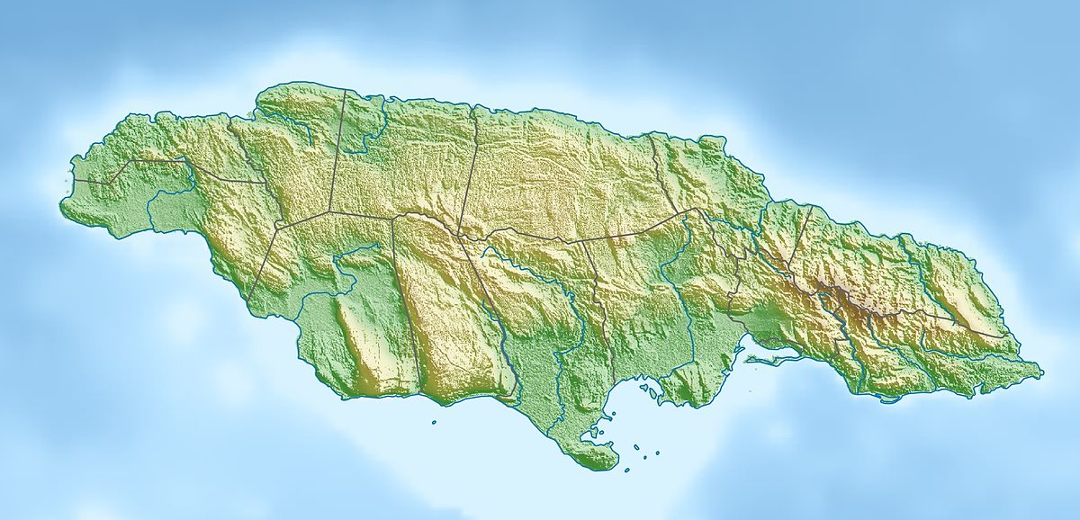 Jamaica Earthquake Wikipedia - Jamaica map