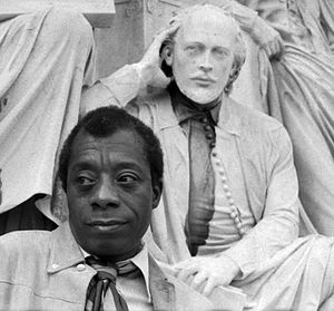 English: portrait of James Baldwin
