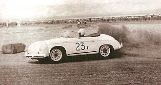 Death of James Dean - Dean and his Porsche Speedster 23F at Palm Springs Races March 1955
