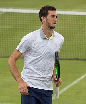 James Ward (tennis) - Image: James Ward, Aegon Surbiton Trophy, London, UK Diliff