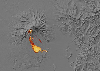 Shiveluch - Image: Jan 2011 Activity at Shiveluch Volcano