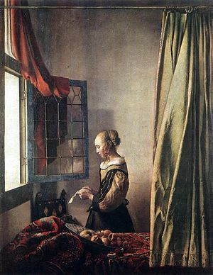 Jan Vermeer - Girl Reading a Letter at an Open Window.JPG
