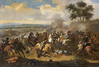 Battle of the Boyne - Battle of the Boyne between James II and William III, 11 July 1690, Jan van Huchtenburg.
