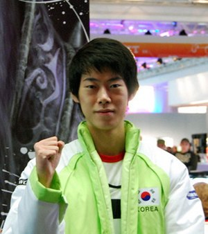 2006 in eSports - Image: Jang Jae Ho at WCG 2008 Grand Final