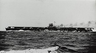 Japanese aircraft carrier Hiryū - Hiryū running her speed trials, 28 April 1939