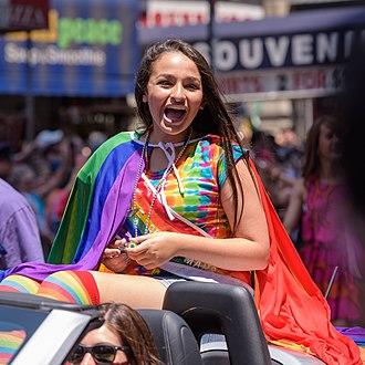 Jazz Jennings - Jazz Jennings at the New York City Pride parade in 2016
