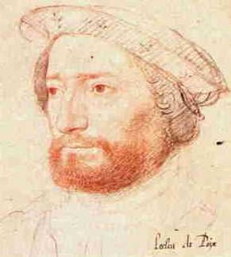 Jean-François Roberval - Sketch of de La Rocque de Roberval by Jean Clouet, Chateau de Chantilly, France