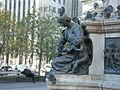 Jeanne Mance statue, Place d'Armes, Montreal 2005-10-21.JPG
