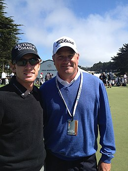 Jeff Paton with PGA Tour student Roberto Castro at the US Open 2012 2013-06-10 21-28.jpg