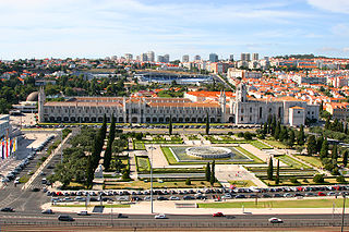 City square in Lisboa, Portugal