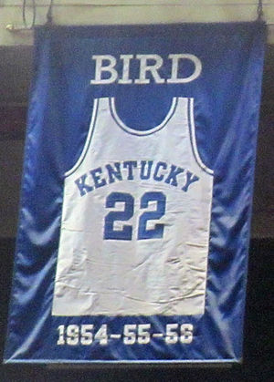Jerry Bird - A jersey honoring Bird hangs in Rupp Arena.