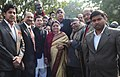 Jitin Prasada and the Vice-Chancellor, University of Delhi, Prof. Dinesh Singh at the unveiling of the Statue of Srinivasa Ramanujan on the occasion of 125th Birth Anniversary of Srinivasa Ramanujan, in New Delhi.jpg