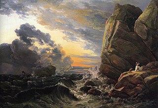 Shipwreck on a Rocky Coast
