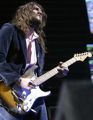 John Frusciante in concert with Red Hot Chili ...