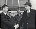 John Diefenbaker at the US Naval base at Argentia, Newfoundland (17 May 1962).jpg